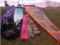 Windsurfer Board, Sails and Equipment.