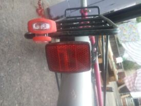 WOMAN'S BIKE with Lights and Helmet - £65