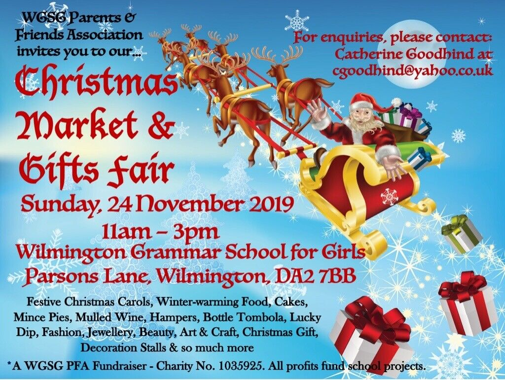 Christmas Gifts For Parents 2019.Christmas Market Gifts Fair 24 November 2019 11am 3pm At