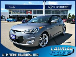 2015 Hyundai Veloster Tech Auto - Leather / Navigation