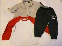Baby Gap shirt (6/12 months), Mothercare top, etc