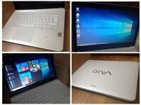 CAN DELIVER 12 months old fast working laptop SONY VAIO with warranty, Windows 10 Pro, was £749