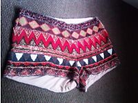 TRULY LOVELY FASHIONABLE HEAVY BEADED VERSATILE SHORTS SIZE 38