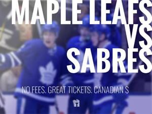 TIKTIKS | Leafs vs Sabres Sept 21st @ Scotiabank Arena | Cheaper than Ticketmaster. CAD$. No Fees. Canadian Company!