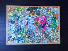 eBoy Tokyo Poster - Oak Frame - A0 - Pixel Art