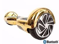 SEGWAY (GOLD CHROME BLUETOOTH) HOVERBOARD + CHARGER + FREE CARRY BAG BOXED BARGAIN MUST SEE LOOK !!!