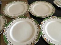 Five vintage plates