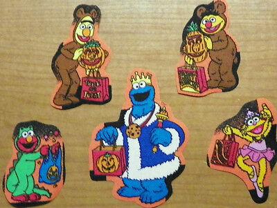 Sesame Street Ernie Bert Cookie Monster Zoe Halloween Fabric Iron On Appliques