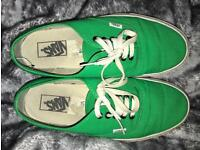 Vans Authentic Green Size 8