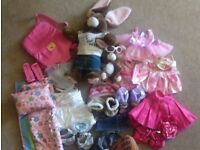 Build A Bear Rabbit/mini rabbit and clothes bundle