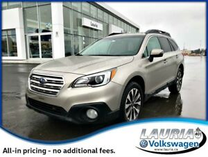 2015 Subaru Outback 3.6R AWD - 1 owner - Leather - Navigation