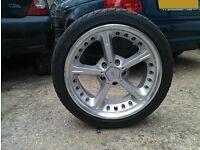 4 x 18 inch Bmw AC Schnitzer Alloy Wheels and Tyres..(e36, e39, e60, e46, 330, Mv2, M3, bbs)