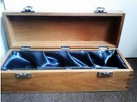 TRULY LOVELY ORIGINAL STURDY WOODEN LONG CASE THAT CAN BE USED TO STORE ANYTHING