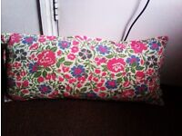 ONLY ONE BUT TRULY LOVELY EASY CARE LONG FLOWERY CUSHION