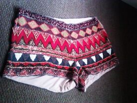 TRULY LOVELY ALWAYS FASHIONABLE HEAVY BEADED VERSATILE HOT PANT OR SHORTS
