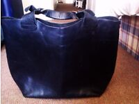 TRULY LOVELY VERSATILE ORIGINAL REAL GOOD QUALITY LEATHER LARGE BLACK HANDBAG