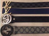 Belts Designer - LV&Gucci - £20 Each - Pouches Available