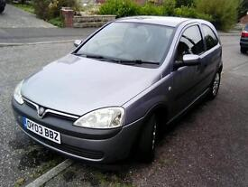 Low milage Vauxhall Corsa tax and MOT