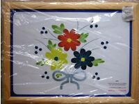 Floral Pattern Pine Cushion Lap Tray