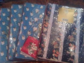 packs of christmas wrapping paper