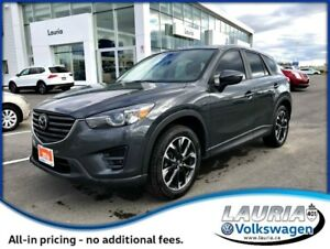 2016 Mazda CX-5 2.5L GT AWD  -  Navigation / Leather / Loaded!