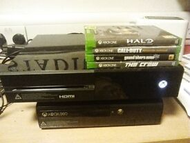 Xbox one with 4 games no controller