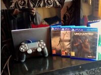 Playstation 4 PS4 500GB w/ Controller + 5 Games. Excellent Condition