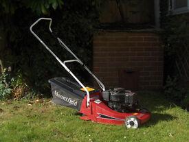 Mountfield Empress petrol lawnmower with roller