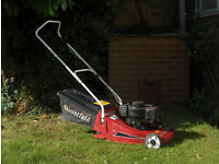 Mountfield Empress petrol lawnmower with roller