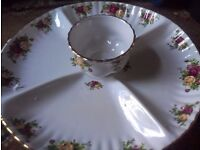 Official Royal Albert Old Country Roses - Chip & Dip (New)