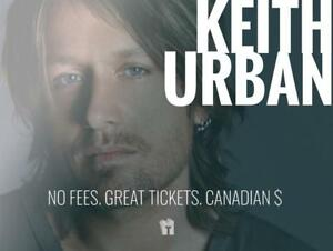 TIKTIKS | Keith Urban Sept 25th @ Rogers Arena | Much cheaper than StubHub. CAD$. No Fees. Canadian Company!