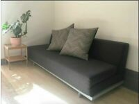 MUJI T2 3 Seater Sofa Bed. Charcoal Grey Double Sofabed Futon. COST £750. I CAN DELIVER