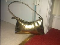 Small Gold Coloured Handbag
