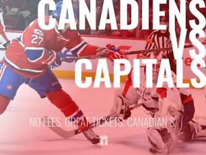TIKTIKS | Canadiens vs Capitals Nov 19 @ Bell Centre | Cheaper than Ticketmaster. CAD$. No Fees. Canadian Company!