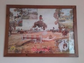 Framed Thelwell pony print