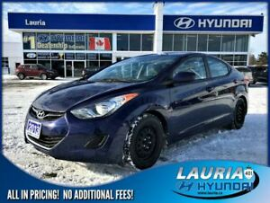 2013 Hyundai Elantra GL Manual - 1 owner - Bluetooth - Heated se