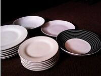 BRAND NEW SET OF LOVELY WHITE LARGE & SMALL PLATES FOR SIX AND THREE VERSATILE FOR SERVING EXTRAS