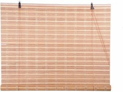 Natural Bamboo Window Blind Roll Up Outdoor Patio Porch Sun Shade Cover...
