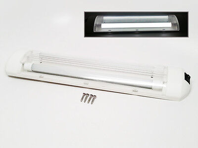 Pactrade Marine ABS LED Fluorescent Interior Light White 12VDC with Switch