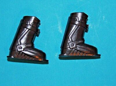 Barbie BLACK BOOTS Snow/Ski Shoes Simulated BUCKLES Excellent Condition