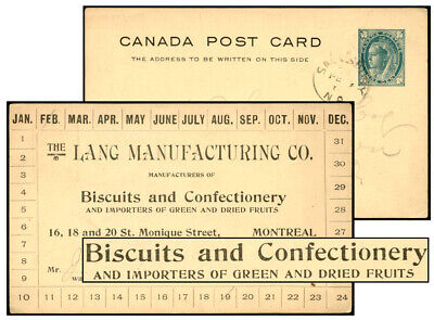 CANADA 1¢ PSC LANG MANUFACTURING, MONTREAL Webb P17