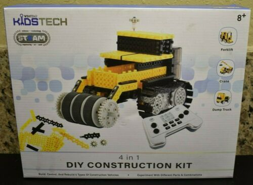 VIVITAR KIDS TECH DIY CONSTRUCTION ROBOT 4 IN 1 BUILD PAY MODIFY NEW/SEALED