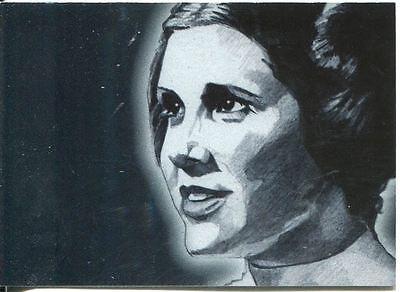 Star Wars Galaxy 4 Silver Foil Chase Card #2 Leia Organa