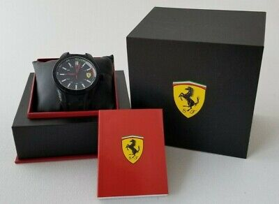 FERRARI Scuderia Quartz Watch Silicone Rubber Band In BOX + Manual