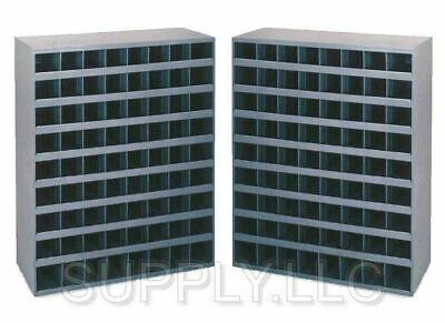 2 Bins Metal 72 Hole Storage Bolt Bin Cabinet Compartment Nuts Bolts Fasteners