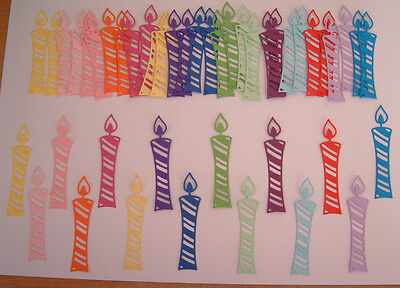 45 Die Cut Candles In Assorted Colours