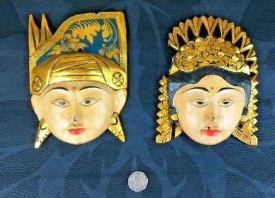Vintage Java Rama and Shinta (Sita) Masks