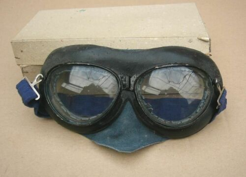 Rare WWII German Ally Flight Motorcycle Goggles for Air forces pilot & Motor