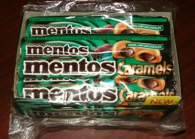 *OLD Stock* BEST BY 09/2017 Mentos Caramel & Mint Dark Chocolate 12