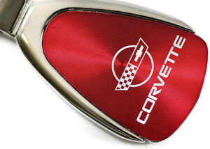 Chevrolet Chevy Corvette C4 Red Teardrop Authentic Logo Key Ring Fob Keychain